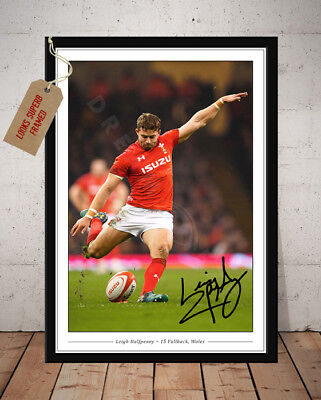 Leigh Halfpenny Wales Rugby Six Nations Autographed Signed Photo Print