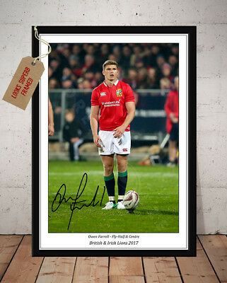 Owen Farrell British & Irish Lions 2017 Rugby Autographed Signed Photo Print 1