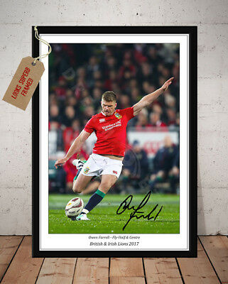 Owen Farrell British & Irish Lions 2017 Rugby Autographed Signed Photo Print 2