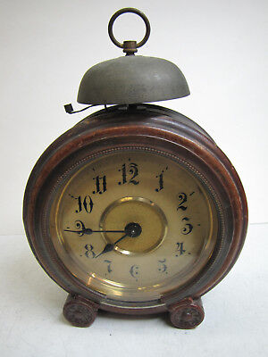 An Early Wooden Cased Alarm Clock