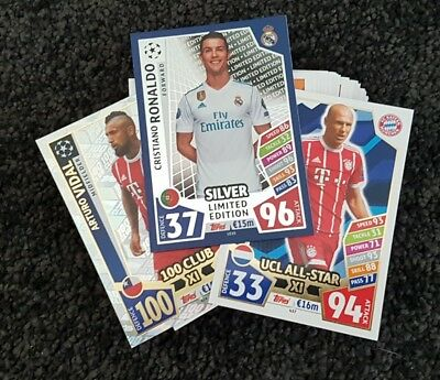 2017/18 Match Attax UEFA Champions Lge - 30 Cards incl Limited Edition&100Club!