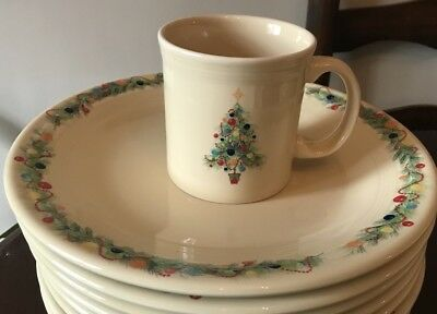 New Fiestaware Christmas Tree Coffee Cup Mug Fiesta & FIESTA IVORY CHRISTMAS Tree Java Mug Fiestaware Homer Laughlin ...