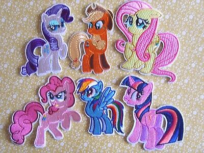 1 x Embroidered My Little Pony Sew On/Iron On Patch Badge Applique DIY Motif