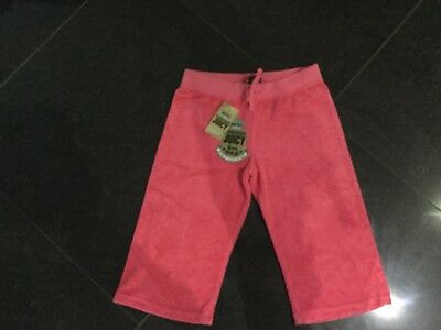 NWT Juicy Couture New & Gen. Girls Age 12 Pink Crop Leg Towelling Pants & Logo