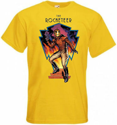THE ROCKETEER ver 2 T-shirt yellow Movie Poster all sizes S...5XL
