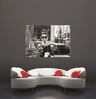Audrey Hepburn Sunglasses Breakfast At Tiffanys Giant Art Print Poster