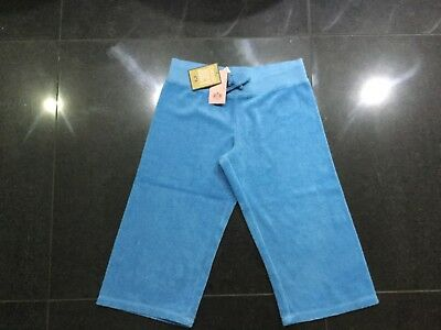 NWT Juicy Couture New & Gen. Girls Age 14 Blue Crop Leg Towelling Pants & Logo