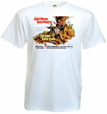 The Sons of Katie Elder ver.2 T-shirt white Movie Poster all sizes S...5XL