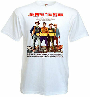 The Sons of Katie Elder ver.1 T-shirt white Movie Poster all sizes S...5XL