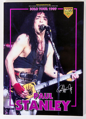 Kiss Book Paul Stanley 1989 Solo Tour 80 Pages – New! In Hand!