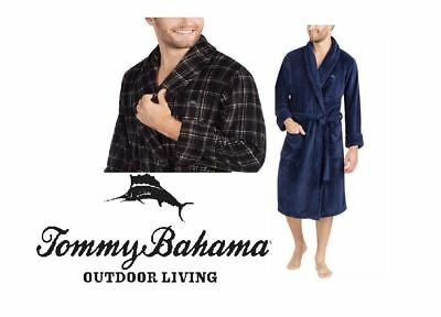"""NEW!! Tommy Bahama Men's """"Make Life One Long Weekend"""" Plush Robes with Pockets"""
