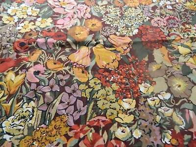 "UNUSED vintage cotton fabric from Liberty - Cottage Garden 27"" x 44"""
