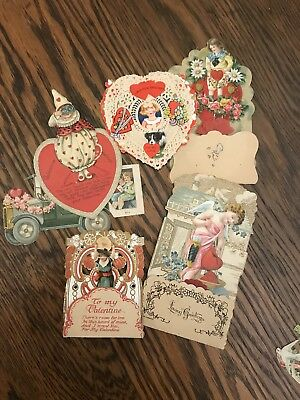 Lot Of 6 Vintage German Valentine Cards