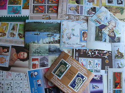 British Commonwealth 18 different MNH souvenir sheets check them out!