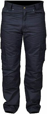 Adults Mens Motorbike Motorcycle Cargo Padded Armour Trouser Jean