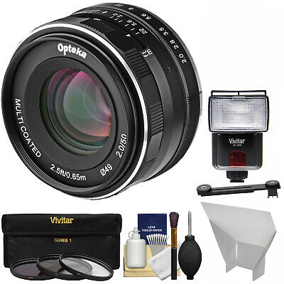 Opteka 50mm f/2 F2 Lens Kit for Fujifilm X Digital Cameras