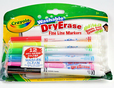 crayola fine line washable dry erase markers 12 count non toxic art