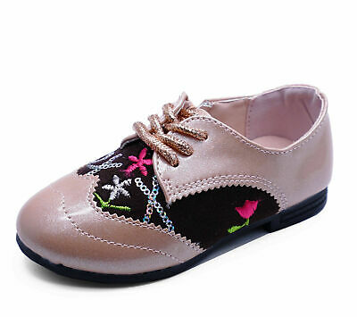 Girls Kids Childrens Pink Glitter Cute Diamante Party Zip-Up Shoes Pumps Uk 8-2