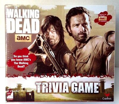 The Walking Dead AMC Trivia Game by Cardinal ~Brand New