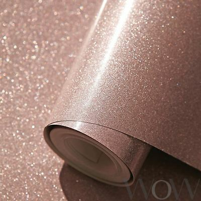 Luxe Glitter Sparkle Wallpaper Rose Gold - World Of Wallpaper Wwc015 Sparkle