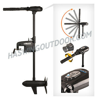Final Sale! 55lbs HASWING TROLLING MOTOR BLACK Magnetic Kill-Switch salt /fresh
