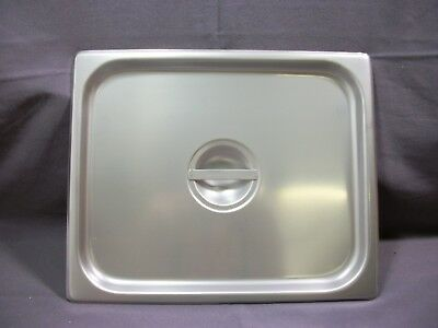 Half Size Solid Stainless Steel Steam Table / Hotel Pan Lid Cover 10 1/2x13 NEW