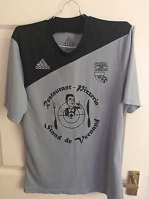 Fc Cheseaux Away Adidas Mens Smell Grey Short Sleeved Football Shirt (Ex Cond)