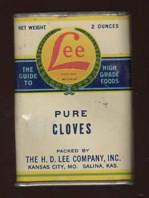 Old H.d. Lee Co. Spice Tin, Pure Cloves