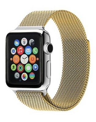 Milanese Loop Band for Apple Watch Series 1 and 2 42mm Gold