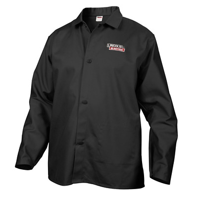 Lincoln Electric Black Large Flame-Resistant Cloth Welding Jacket