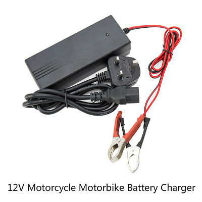 24V 3A Smart Motorcycle E-bike Battery Charger Charging Crocodile clip Interface