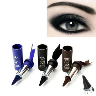 femmes Smoky Eyes Eye-liner solide épais noir GEL crayon maquillage HOT