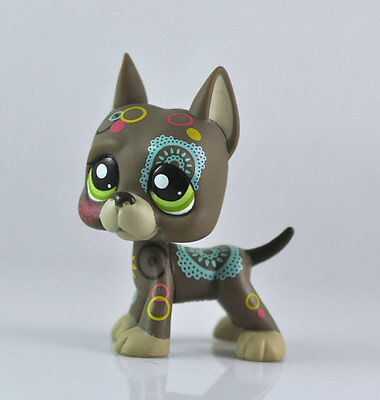 DOG DANE Littlest Pet  Animal child girl boy figure loose cute LPS957