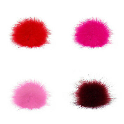 Multicolor Small Faux Fur Pom Pom Ball for Beanie Hat DIY Accessories Hot 1 x