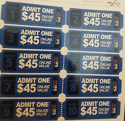 10 Paintball Tickets for IPG (International Paintball Group)