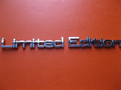 3D Limited Edition chrome metal sticker emblem decal badge 140x12mm S/A sign car