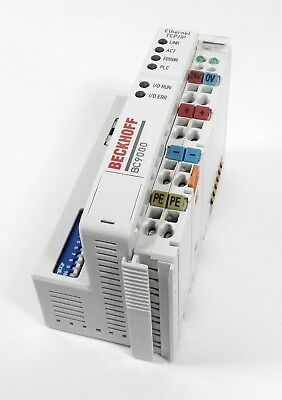 BECKHOFF BC9000 -USED- Ethernet TCP/IP Buskoppler Bus Terminal Controller 24V DC