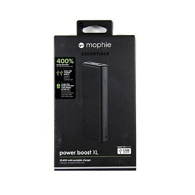 Mophie Battery Power Bank Powerboost Xl 10400Mah For Smartphone Tablet Blk 4081