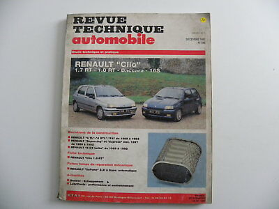 Revue technique automobile RTA Renault Clio 1.7 RT . 1.8 RT . Baccara.16S