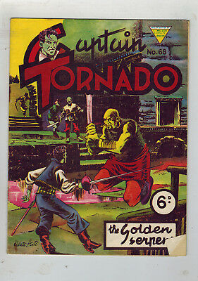 CAPTAIN TORNADO COMIC No. 68 1950s L. Miller & Son