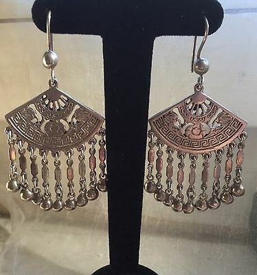 Boucles Oreilles Eventail Egypte Fan Jewel Earrings Silver Argent Ventilatore 19