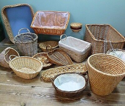 Huge Bundle Job Lot of Wicker Baskets Items Ideal for Craft Floristry Projects