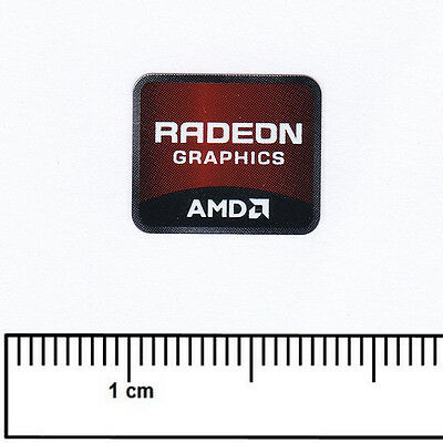 AMD Radeon Graphics Laptop Computer Sticker Badge Processor Vinyl 15x15mm