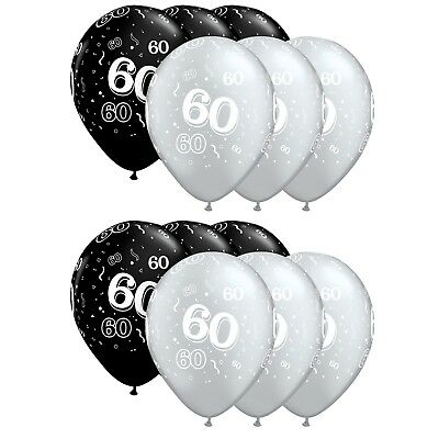 6//12 Happy 21st Birthday Latex Party Balloons Gold Silver Black 11 Inch 27.7 cm