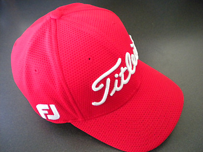 Titleist FJ Pro V1 logo New Era Red - Cubic Mesh Cap Hat S/M