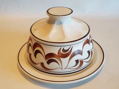 Rare Mid-Century Radford Pottery Cheese Dish / Cloche - Hand Painted in VGC