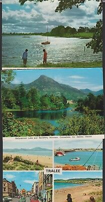 3 Irish Postcards, Athlone, Connemara & Tralee. 1 Posted. All Good.