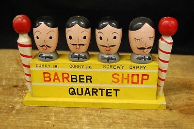 Vintage Wood Bar Cocktail Set BARber SHOP Quartet Bar Set (F37)