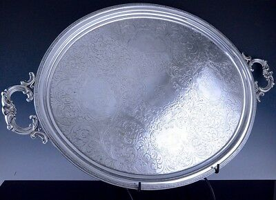 MUSEUM QUALITY HUGEc1840 EARLY AMERICAN FORBES NEW YORK COIN SILVER PLATTER TRAY