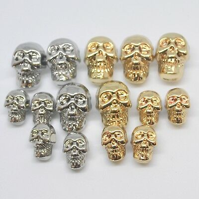 Skull Buttons gold or silver colour 13mm & 18mm sold per 5 buttons